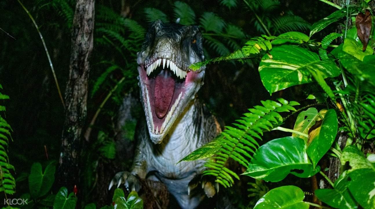 Night Dinosaurs lurk at Okashigoten nature park